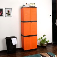 Cello Novelty Large Plastic Cupboard(Finish Color - ORANGE & BROWN)
