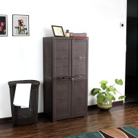 Cello Novelty Big Plastic Free Standing Chest of Drawers(Finish Color - ICE BROWN)