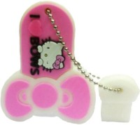 Microware hello kitty Shape 8gb Pendrive 8 GB Pen Drive(Pink)