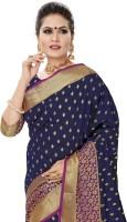 Sanku Fashion Embellished, Embroidered Kanjivaram Pure Silk, Poly Silk, Art Silk, Cotton Blend Saree(Multicolor)