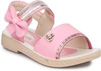 PHEDARUS Girls Velcro Flats(Pink)