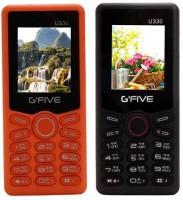Gfive U330 Combo of Two Mobiles(Orange&Black) - Price 1299 35 % Off