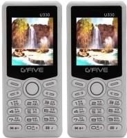 Gfive U330 Combo of Two Mobiles(White&White) - Price 1299 35 % Off