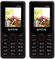 Gfive U330 Combo of Two Mobiles(Black&Black) - Price 1299 35 % Off