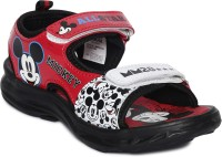 Mickey Boys Velcro Sports Sandals(Red)
