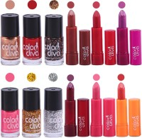 Color Diva Maybelline Nail Paint And Color Addiction Lipstick Set of 12, GC551