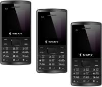 Ssky K2 Combo of Three Mobiles(Black) - Price 1999 21 % Off