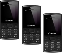 Ssky K2 Combo of Three Mobiles(Black)