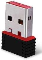 techdeal 2.4Ghz Wireless Wifi Dongle Mini Transmitter Network LAN Card 802.11n (Black) USB Adapter(Black)