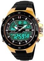 Skmei 1016 Gold Analog-Digital Swag Watch Watch  - For Men
