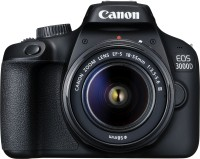 Canon EOS 3000D DSLR Camera 1 Camera Body, 18 - 55 mm Lens, Battery, Battery Charger, USB Cable(Black)