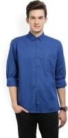 Wrangler Men's Solid Casual Dark Blue Shirt