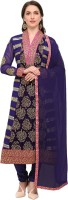Saara Georgette Embroidered Kurta & Churidar Material(Semi Stitched)