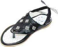 EasySteps Girls Sling Back Strappy Sandals(Black)