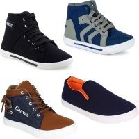 Super Matteress COMBO(4)-303-114-678-486 Sneakers For Men(Multicolor)