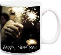 ME&YOU for Husband Wife Father Mother Brother Sister Nephew Niece Friend Teacher Student Grand Mother Grand Father Uncle Aunt On Happy New Year (IZ17-CK-MU-201) Printed Ceramic Mug(325 ml)