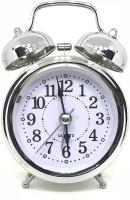 Maxel Analog Silver Clock