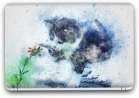 Flipkart SmartBuy Abstract Cat Painting Vinyl Laptop Skin (3M/Avery Vinyl, Matte Laminated, 14 x 9 inches) Vinyl Laptop Decal 14.1