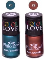 Pink Root NAIL PAINTS NO.28,29 Natural(15 ml, Pack of 2) - Price 145 63 % Off
