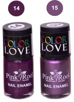 Pink Root NAIL PAINTS NO.14,15 Natural(15 ml, Pack of 2) - Price 145 63 % Off