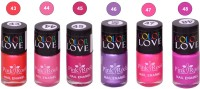 Pink Root NAIL PAINTS NO.43,44,45,46,47,48 Natural(15 ml, Pack of 6) - Price 249 79 % Off