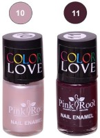 Pink Root NAIL PAINTS NO.10,11 Natural(15 ml, Pack of 2) - Price 145 63 % Off