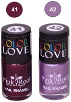 Pink Root NAIL PAINTS NO.41,42 Natural(15 ml, Pack of 2) - Price 145 63 % Off