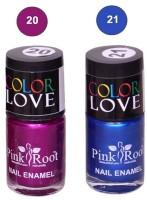 Pink Root NAIL PAINTS NO.20,21 Natural(15 ml, Pack of 2) - Price 145 63 % Off