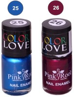 Pink Root NAIL PAINTS NO.25,26 Natural(15 ml, Pack of 2) - Price 145 63 % Off