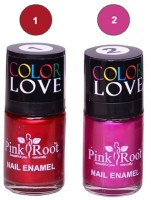 Pink Root NAIL PAINTS NO.1,2 Natural(15 ml, Pack of 2) - Price 145 63 % Off