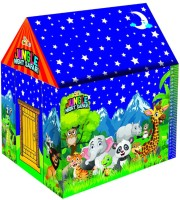 Awals Jungle Night Safari LED Light Tent House With Height Chart For Kids(Multicolor)