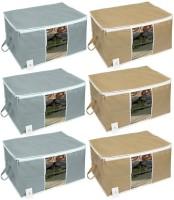 HomeStrap HSHSHSUBSCOMNWFWINGRYBEG6PC-Part Under Bed Storage