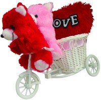 MEYOU Romantic Cycle Teddy Return Gifts For Wife Girlfriend Sister On Birthday Anniversary Rakhi
