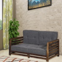 Vintej Home Wooden Raymond Mango Fabric 2 Seater  Sofa(Finish Color - Provincial Teak)