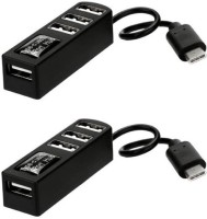 OLECTRA PACK OF 2 TYPE C USB 3.1 HUB 4 PORT 3.0 USB Adapter (Black) USB Adapter(Black)