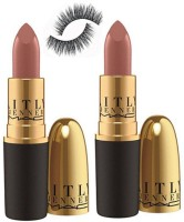 Professional kit Of Eyelashes with Mac Creme sheen Caitlyn Jenner Lipstick 3 gm (pack of 2)(Set of 2) - Price 799 77 % Off