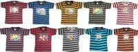 Kifayati Bazar Boys & Girls Striped Hoisery T Shirt(Multicolor, Pack of 10)