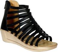 Toshina shoes King Women Black Wedges