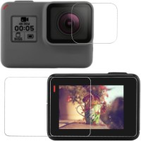 ACUTAS Front and Back Tempered Glass for GoPro Hero 5, GoPro Hero 6
