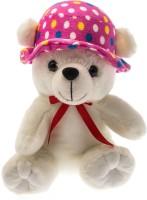 Dimpy Stuff Bear W/Cap  - 20 cm(White)