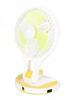 CRETO high speed emergency led light mini fan ut 5580 USB Fan(Yellow, White)