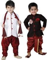 SKDC Boys Festive & Party Kurta and Pyjama Set(Multicolor Pack of 2)