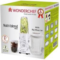 Wonderchef Nutri-Blend 400-Watt Mixer Grinder with 3 Jars (White) 400 Juicer Mixer Grinder(White, 3 Jars)