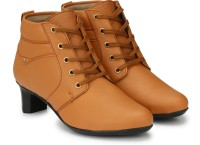 Alexa Shearling Pull On Boots For Women(Tan)