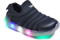FEETWELL Boys Slip on Sneakers(Black)