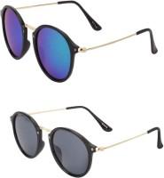 Barbarik Cat-eye Sunglasses(Black, Multicolor)