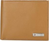 Tommy Hilfiger Men Tan Genuine Leather Wallet(8 Card Slots)