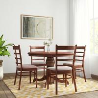 RoyalOak COCO Solid Wood 4 Seater Dining Set(Finish Color - Walnut)