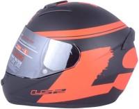 LS2 Bulky Black Red Motorbike Helmet(Black, Red)