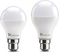 Syska 12 W, 9 W Round B22 LED Bulb(White, Pack of 2)